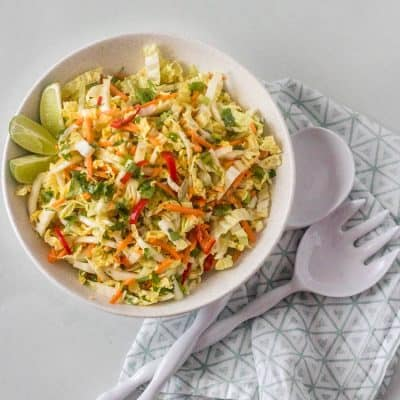 Healthy Mexican Coleslaw with Passion Fruit Dressing