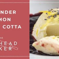 Lavender Lemon Panna Cotta by The Redhead Baker