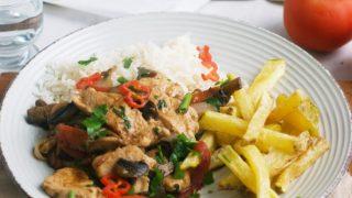 Peruvian Chicken Stir-fry (Pollo saltado)