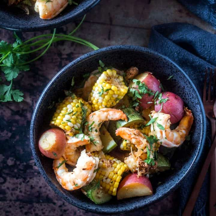 Mexican Shrimp Boil with Chorizo