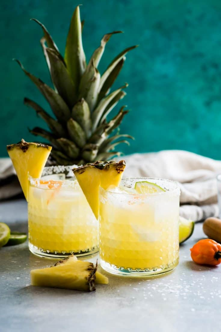 Spicy Habanero Pineapple Margarita - Isabel Eats {Easy Mexican Recipes}