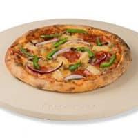 "ROCKSHEAT 14.2""x 0.6"" Round Cordierite Pizza Stone"