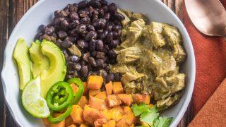Healthy Mole Verde Bowls