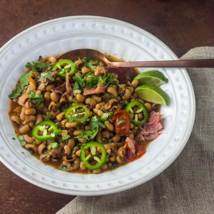 Instant Pot Black Eyed Peas Borracho Style