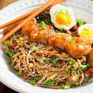 Korean-Style Buckwheat Noodle Salad