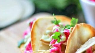 Mini Asian Tacos with Wonton Taco Shells