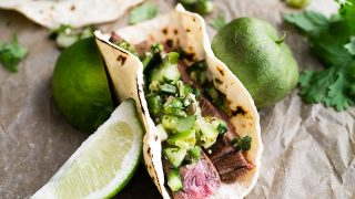 Flank Steak Tacos with Pico Verde - Mid-Life Croissant