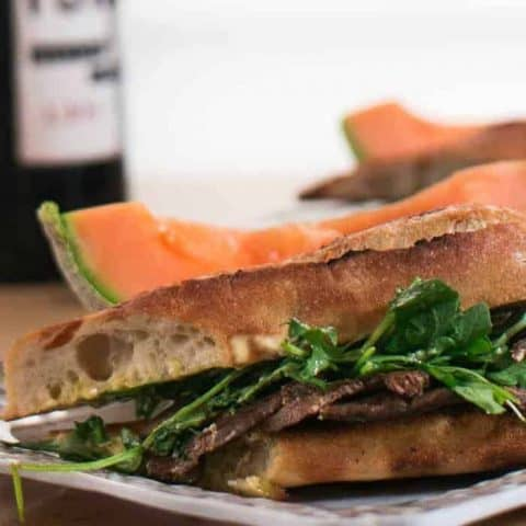 Instant Pot Provencal Beef Tongue Sandwiches