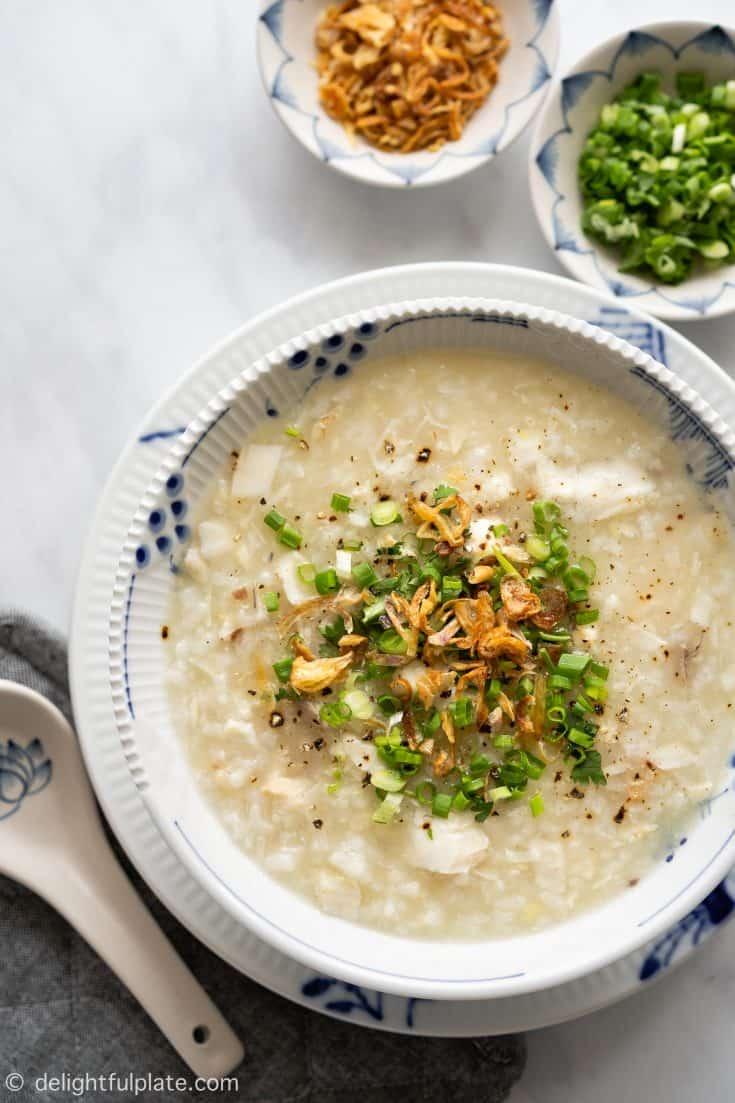 Instant Pot (Pressure Cooker) Vietnamese Fish Congee (Chao ca)