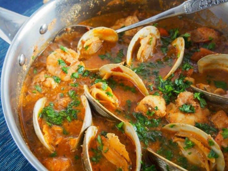 Romesco de peix (Catalan fish stew)