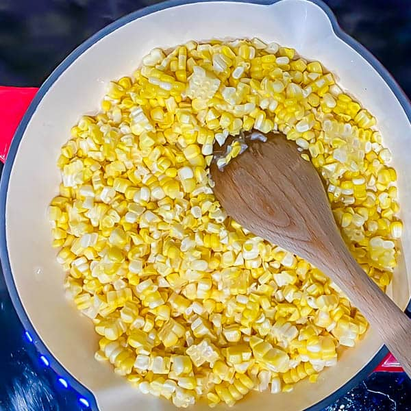 Add the corn to an extremely hot pan.